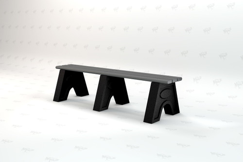 8ft. Sport Recycled Plastic Outdoor and Park Bench - Gray