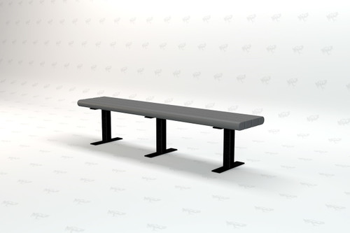 8ft. Garden Recycled Plastic Outdoor and Park Bench - Gray