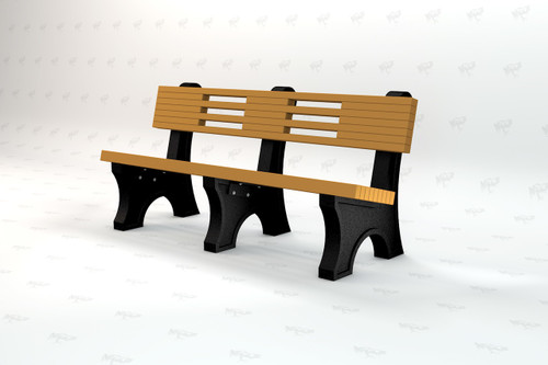 4ft Ariel Recycled Plastic Outdoor and Park Bench - Cedar