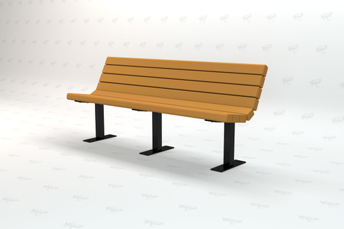 4ft. Jamison Recycled Plastic Outdoor and Park Bench