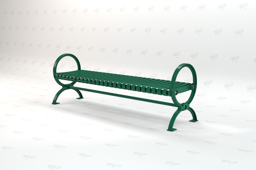 6Ft. Wellington Backless Recycled Plastic Outdoor and Park Bench