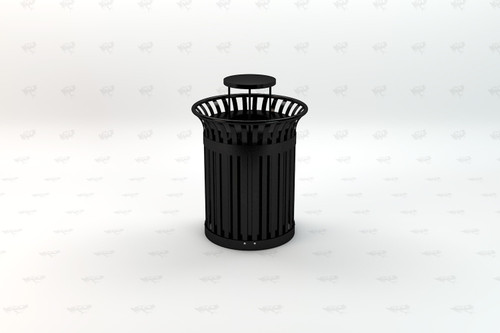 Richmond Recycled Plastic Receptacle - Black