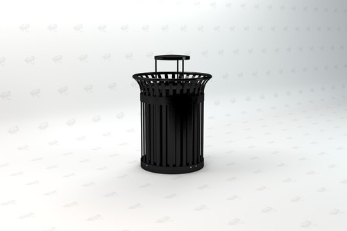 Richmond Recycled Plastic Receptacle - Black Slats
