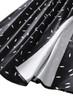 Long Sleeve Ruffle Neck Slit Flared Dress in Black