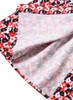 V-neck Carnation Floral Georgette Shirt Dress