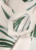 Tropical Leaf Print Button Front Mid-length Shirt Dress