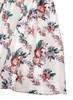 V-neck High Waist Floral Flared Midi Mock Two-piece Dress