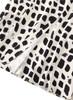 V-neck Black Knitted Top & Belted Two-tone Side Slit Midi Skirt