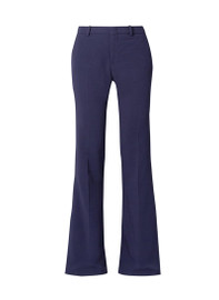 High Waisted Flared Wide-leg Trousers in Navy