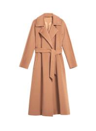 Belted Wraparound Camel Longline Coat