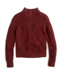 Mock Neck Knit Sweater in Super Soft Yarn