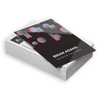 Business cards are widely used as a networking tool and a way to make a good first impression. These business cards combine a glossy and shiny coated side with an uncoated, writable side.