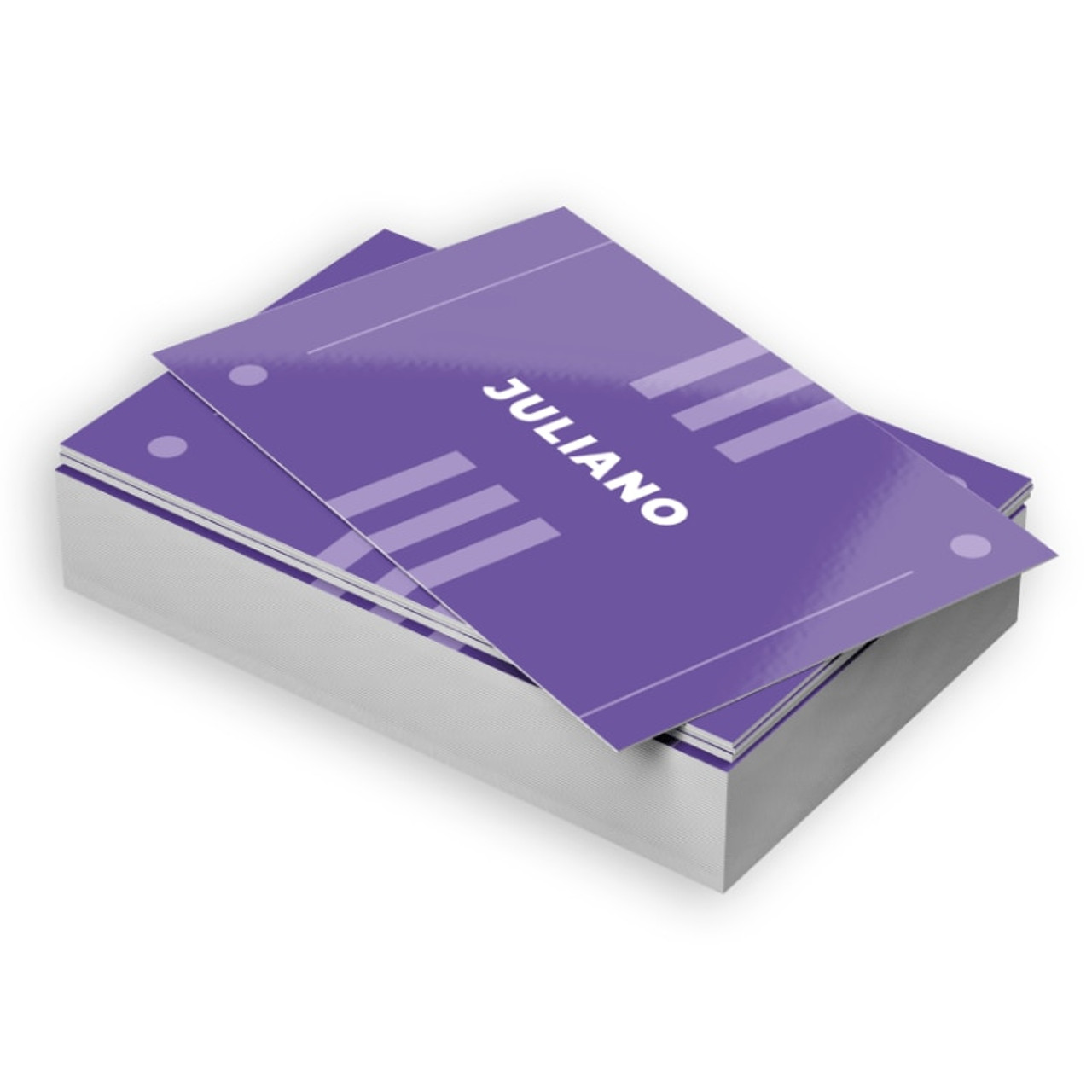 Business cards are widely used as a networking tool and a way to make a good first impression. These business cards combine a semi-gloss coated side with an uncoated, writable side.