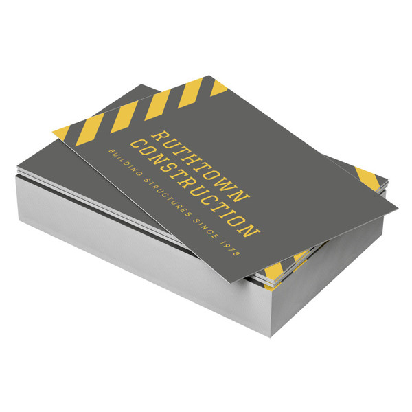 Through the use of a high quality substrate, this synthetic paper is perfect for customized and short run designs. Sourced from raw material, it is 100% recyclable, non-toxic, and extremely durable. The waterproof and tear resistant qualities guarantee that your business cards will always look great, even in the most adverse of conditions.
