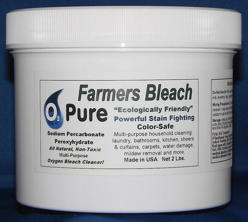 O3 PURE Color Safe Farmers Bleach Soap with Hydrogen Peroxide and Sodium Carbonate