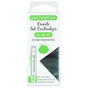 Monteverde USA® 12pc Ink Cartridges Clear Case Gemstone Erinite
