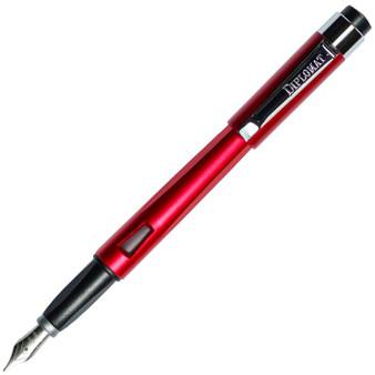 Diplomat Magnum Burned Red Fountain Pen, Medium Nib