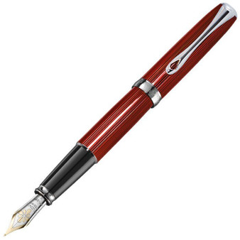 Diplomat Excellence A2 Skyline Red 14k Fountain Pen, Broad Nib