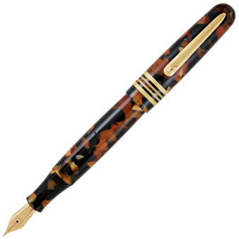 Stipula Etruria Fountain Pen Stainless Steel Nib, Medium - Tortoise