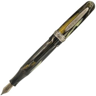Stipula Etruria Magnifica Fountain Pen Stainless Steel Fine Nib - Pyrite