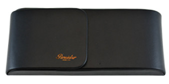 Pineider 3 Pen Leather Case, Black