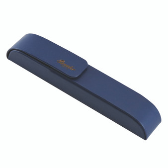 Pineider 1 Pen Leather Case, Blue