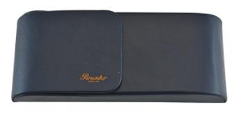 Pineider 3 Pen Leather Case, Blue