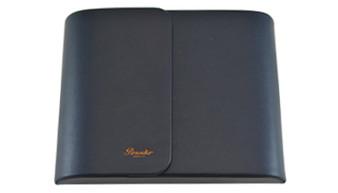 Pineider 6 Pen Leather Case, Blue