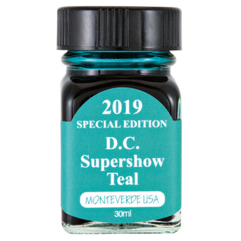 Monteverde USA® 30ml 2019 Special Edition D.C. Supershow Teal  Ink Bottle
