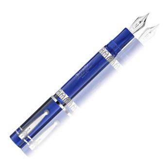 Nettuno 1911 Fountain pen, Oceano Deep Blue (marble blue resin/rhodium trim), Fine nib