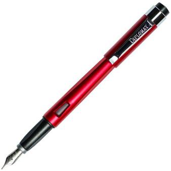 Diplomat Magnum Burned Red Fountain Pen, Medium Nib (Sellers Sample)