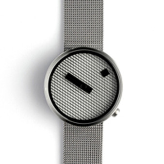 Nava Jacquard Watch, 39mm Steel Mesh Band