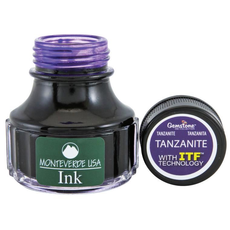 Monteverde USA® Gemstone Tanzanite 90ml Ink Bottle