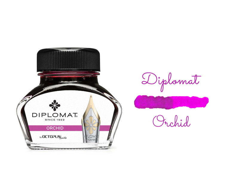 Diplomat Ink Orchid Pink 30ml Bottle