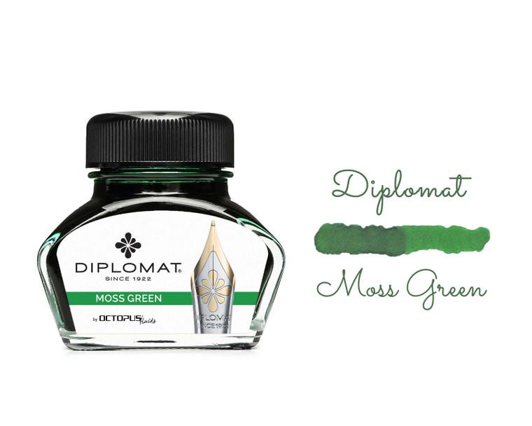 Diplomat Ink Moss Green 30ml Bottle