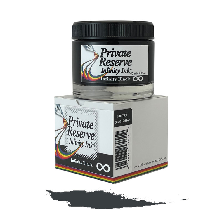 Private Reserve Ink, 60 ml ink bottle; Infinity Black (with E.C.O. formula)