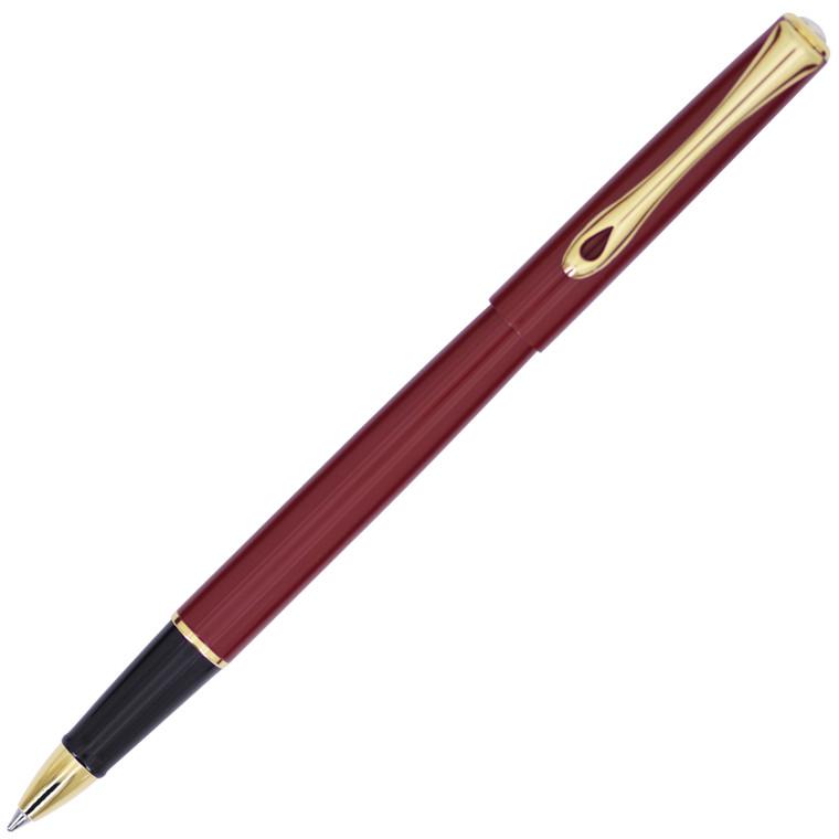 Diplomat Traveller Dark Red Gold Rollerball Pen