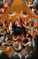 Huge 17th Century Italian Old Master Coronation Of The Virgin Madonna Guido RENI