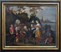17th Century Flemish Old Master Temptation St Anthony Demons & Flying Devils