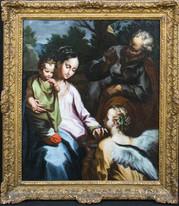 Large 17th Century Italian Old Master Angel Madonna Della Pappa Francesco VANNI