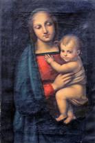 17th 18th Century Italian Old Master Madonna & Baby RAPHAEL (1483-1520)