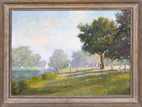 Early 20th Century August Summer Landscape Aston Ferry River Thames SOMERSCALES