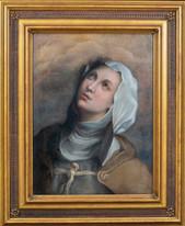 17th Century Italian Renaissance Old Master Portrait Of Michelina Of Pesaro