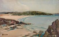 Early 20th century Porthmeor Beach Cornwall Godwin BENNETT (1888-1950)