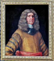 Large 17th Century Dutch Old Master Gentleman Officer In Armour Portrait