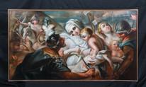 Huge 17th Century Italian Old Master Massacre Of the Innocents Luca GIORDANO