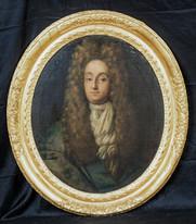 arge 17th Century Portrait Mr Christopher Sanderson II (1617-1693) KNELLER