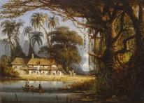 19th Century Brazil Forest French Colonial Landscape Charles Euphrasie KUWASSEG