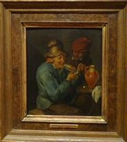 17th Century Dutch Peasants Smoking Tavern Thomas VAN APSHOVEN (1622-1664)