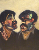 20th Century Figurative Double Portrait Francis Bacon Gaston Chaissac Painting